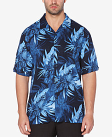 Cubavera Men's Big & Tall Floral-Print Camp Collar Shirt