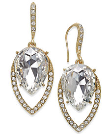 I.N.C. Gold-Tone Crystal Drop Earrings, Created for Macy's