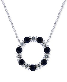 "Blue Sapphire (2 ct. t.w.) & White Sapphire (3/4 ct. t.w.) 16"" Pendant Necklace in Sterling Silver"