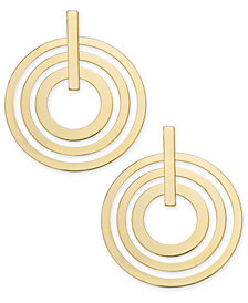 "I.N.C. Extra Large 3"" Gold-Tone Multi-Circle Large Drop Earrings, Created for Macy's"