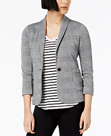 Maison Jules Printed One-Button Blazer, Created for Macy's