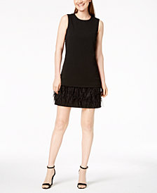 Calvin Klein Faux-Feathers Sheath Dress