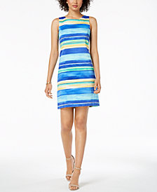 Pappagallo Striped Scoop-Back Dress