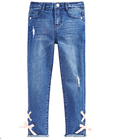 Epic Threads Little Girls Lace-Up Jeans, Created for Macy's