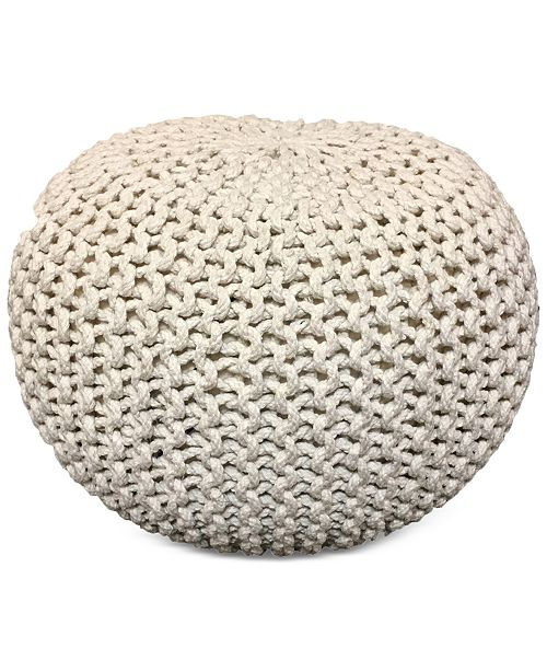 pouf keyword wayfair carolos knit white ottoman