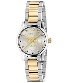 Gucci Women's Swiss G-Timeless Two-Tone Stainless Steel Bracelet Watch 27mm