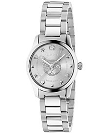 Gucci Women's Swiss G-Timeless Stainless Steel Bracelet Watch 27mm