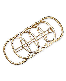 I.N.C. Gold-Tone Multi-Circle Hair Barrette, Created for Macy's