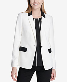 Calvin Klein One-Button Tuxedo Jacket