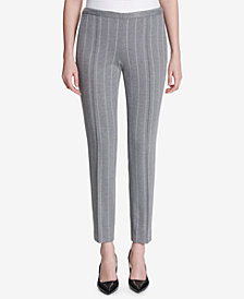 Calvin Klein Pinstriped Ankle Pants