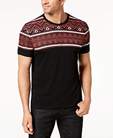 I.N.C. Men's Geometric Print T-Shirt, Created for Macy's