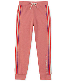 Calvin Klein Big Girls Side Stripe Sweatpants