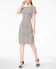 Calvin Klein Textured Stripe Sheath Dress