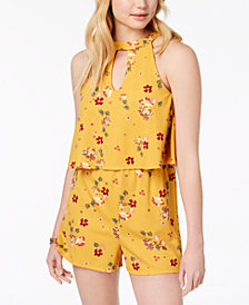Almost Famous Juniors' Popover Romper