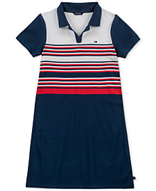 Tommy Hilfiger Big Girls Ribbed Polo Dress