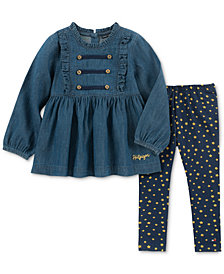 Tommy Hilfiger Little Girls 2-Pc. Cotton Denim Tunic & Leggings Set