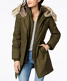 1 Madison Expedition Faux-Fur-Trim Hooded Parka Coat