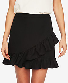 1.STATE Ruffled-Edge Mini Skirt