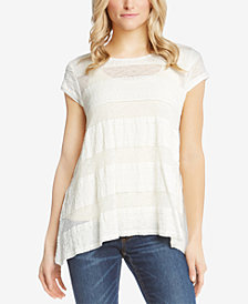 Karen Kane High-Low Lace Top