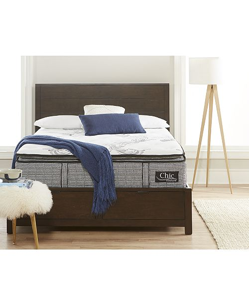 "Chic Couture Cool Gel Memory Foam and Wrapped Coil Hybrid 13"" Pillow Top Mattress - Twin XL, Quick Ship, Mattress in a Box"