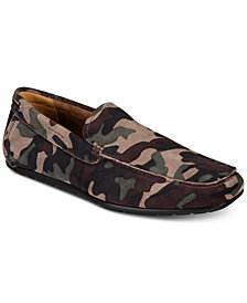 Alfani Men's Bromley Camo Suede Drivers, Created for Macy's
