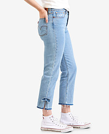 Levi's® Wedgie Straight-Leg Cropped Jeans