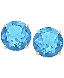 Blue Topaz Stud Earrings (6-3/4 ct. t.w.) in 14k Gold