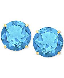 Blue Topaz Stud Earrings (6-3/4 ct. t.w.) in 14k Gold