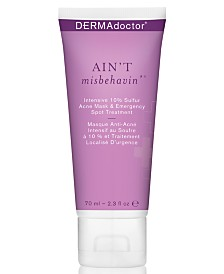 DERMAdoctor Ain't Misbehavin' Intensive 10% Sulfur Acne Mask & Emergency Spot Treatment, 2.3-oz.