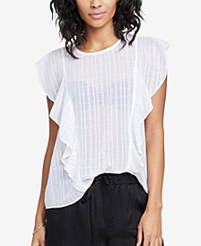 RACHEL Rachel Roy Gemma Cotton Ruffled Top, Created for Macy's
