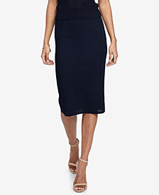 RACHEL Rachel Roy Mixed-Stitch Pencil Skirt, Created for Macy's