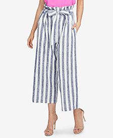 RACHEL Rachel Roy Striped Paperbag Pants, Created for Macy's