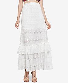 BCBGMAXAZRIA Embroidered Cotton Maxi Skirt