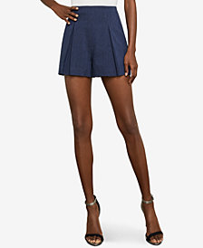 BCBGMAXAZRIA Pinstripe Pleated Short