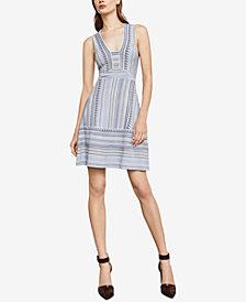 BCBGMAXAZRIA Chevron Stripe Jacquard Dress
