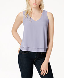 Bar III Ruffle Hem Tank Top, Created for Macy's