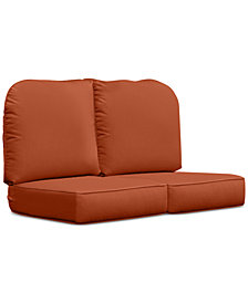 Monterey & Sandy Cove Outdoor Loveseat Replacement Sunbrella® Cushion, Quick Ship