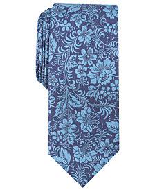 Tallia Men's Bayard Floral Slim Silk Tie