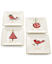 222 Fifth Natala Salad Plates, Set of 4
