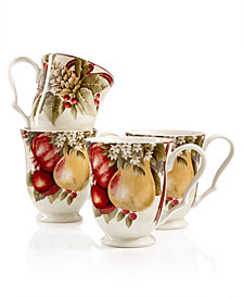 222 Fifth Yuletide Celebration Set of 4 Mugs