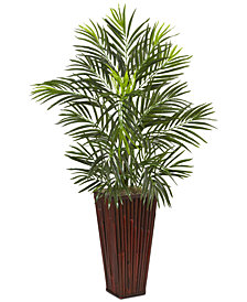 """Nearly Natural 41"""" Areca Palm Artificial Tree in Bamboo Planter"""