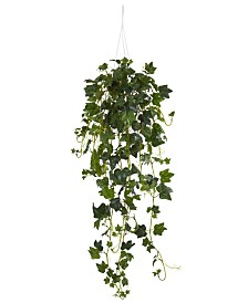 Nearly Natural English Ivy Artificial Plant Hanging Basket