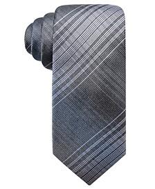 Men's Ionic Plaid Slim Silk Tie, Created for Macy's