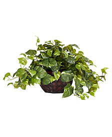 Nearly Natural Pothos Artificial Plant in Decorative Vase