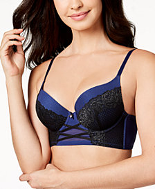 I.N.C. Lace Corset Longline Bra, Created for Macy's
