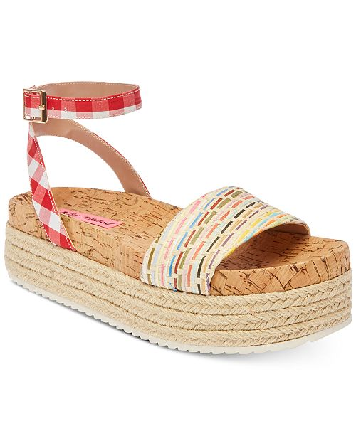 c65c389e7e4 Betsey Johnson Thelma Espadrille Sandals & Reviews - Sandals & Flip ...