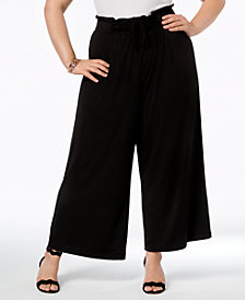 John Paul Richard Plus Size Knit Wide-Leg Pants