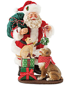 Department 56 Possible Dreams Pets with Santa Figurine