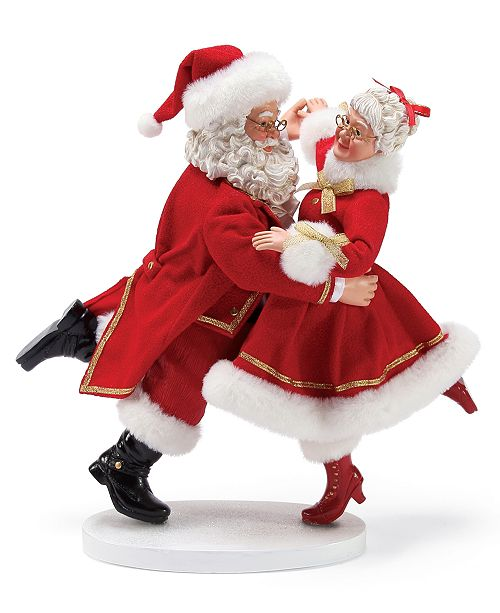 f98a50f82 Department 56 Possible Dreams Dancing Santa and Mrs. Claus Figurine ...