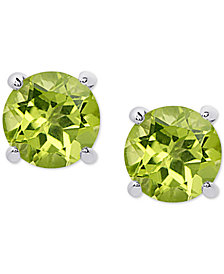 Peridot Stud Earrings (1-3/4 ct. t.w.) in Sterling Silver